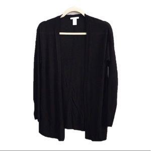 H&M Black Long Sleeve Open Front Cardigan